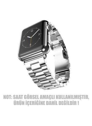 Jacobson Apple Watch 38-40mm Çelik Bakla Kordon Kayış Gümüş